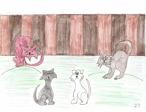 Boris and Taffy Are Confronted By Alley Cats