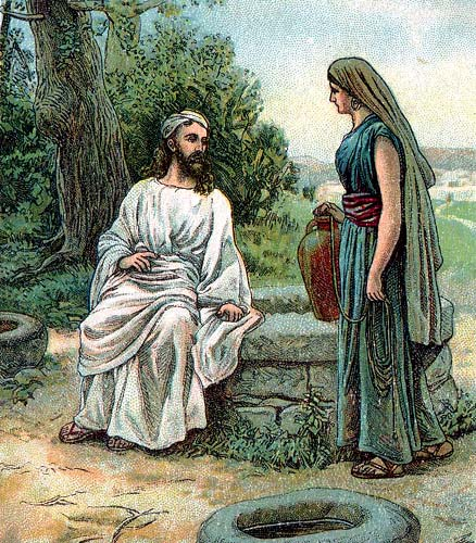 clipart jesus and the woman at the well - photo #6